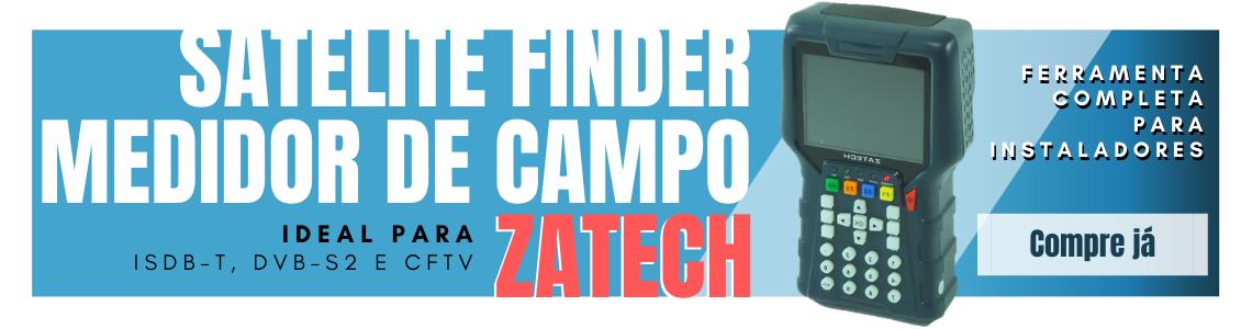 Localizador e Medidor para Satélite e TV Digital Zatech
