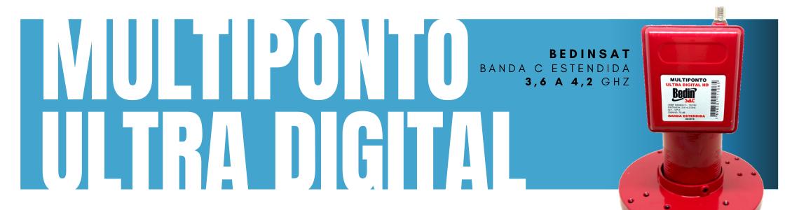 LNBF Banda C Multiponto Ultra Digital HD Bedinsat