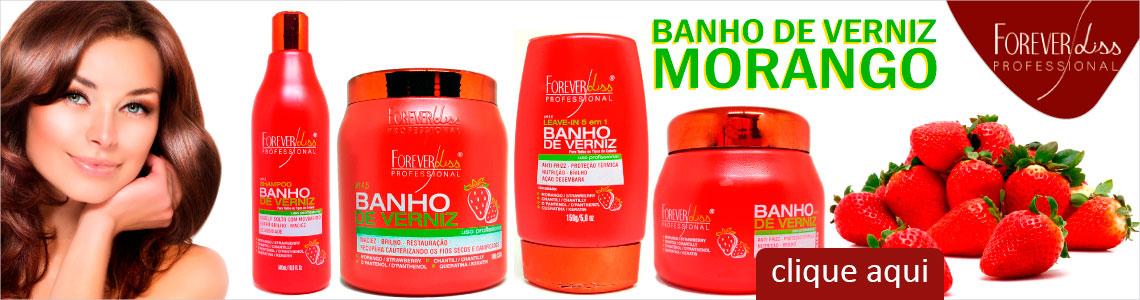 Banho Verniz Morango Forever Liss Lançamento