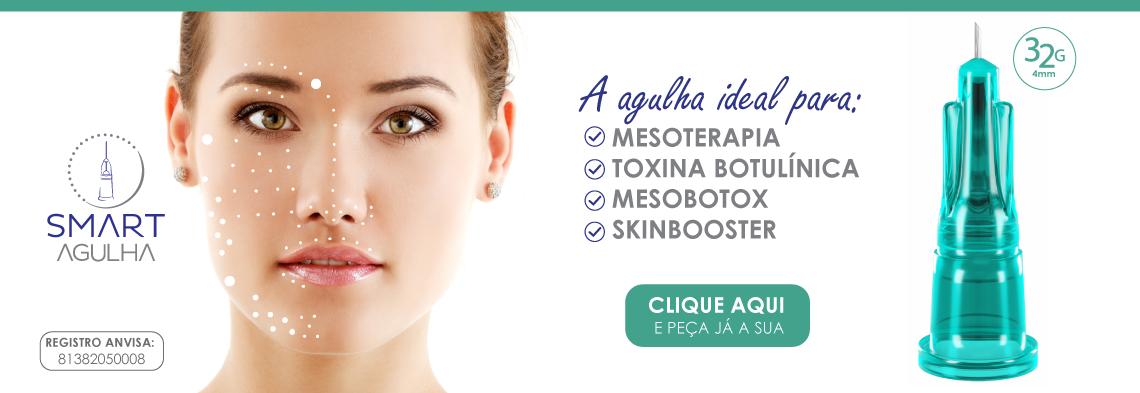 Smart Agulha - para Mesoterapia, Toxina Botulínica, Mesobotox, Skinbooster