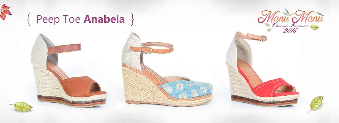 Peep Toe Anabela - 3 modelos