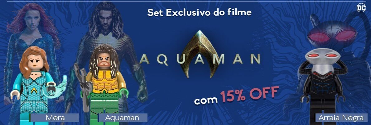 kit aquaman lego exclusivo filme
