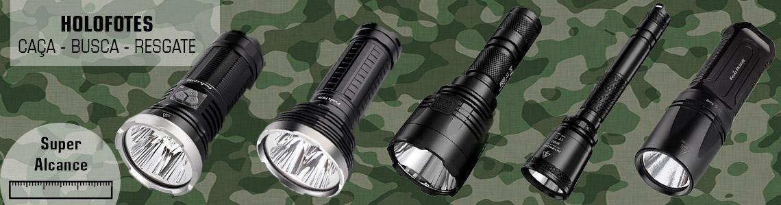 lanterna holofote caça longo alcance
