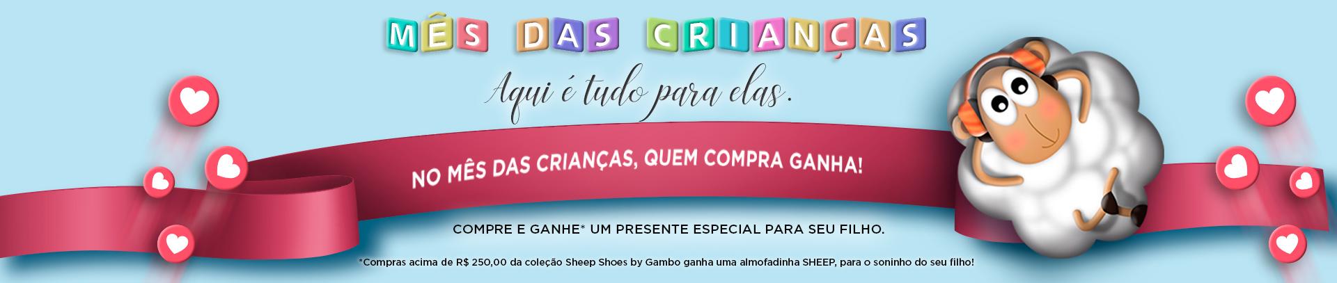 Campanha: Mês das Crianças Sheep Shoes!