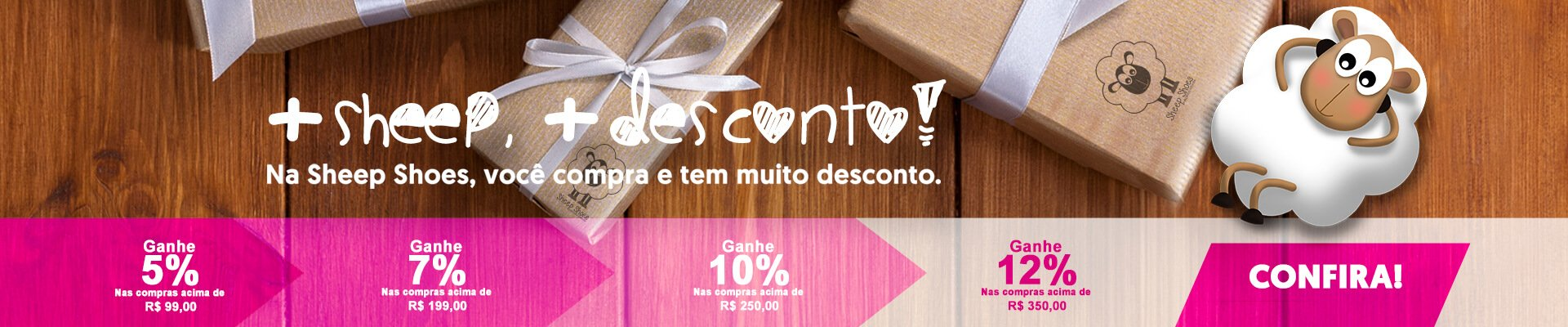 Campanha: + Sheep + Desconto