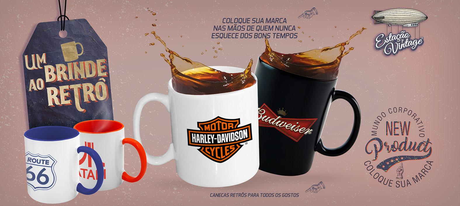 Canecas - Brinde Retrô
