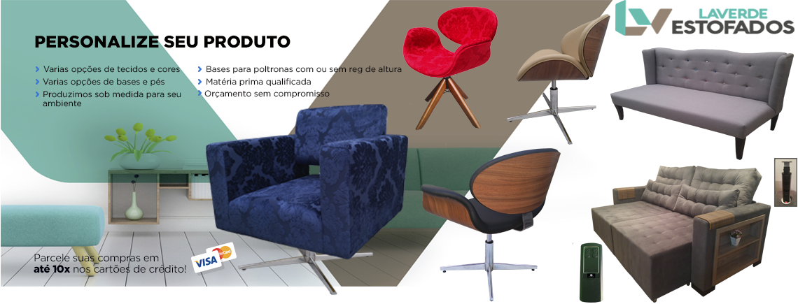 Personalize seu sofa ou poltrona