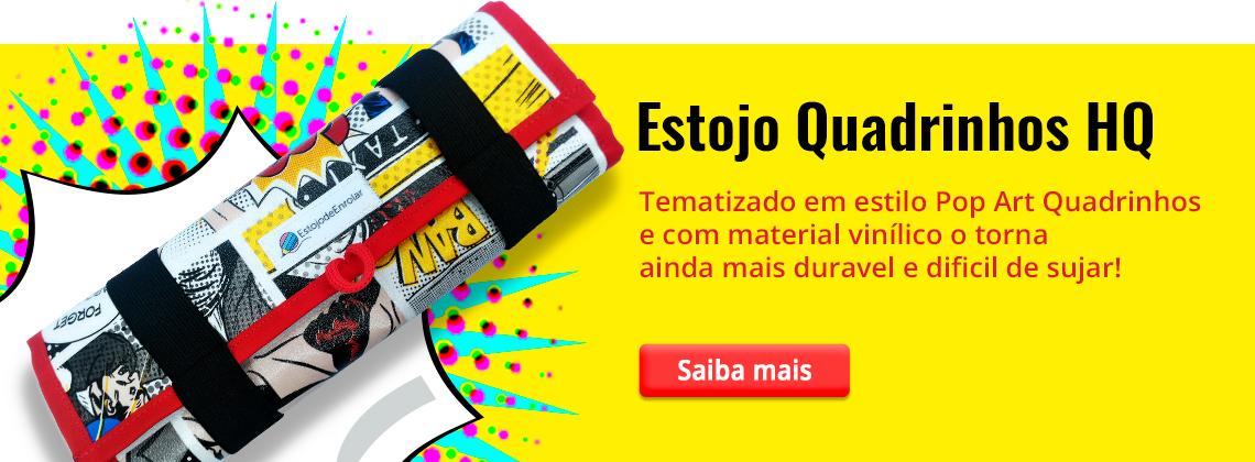 Banner, Estojo Estampa Quadrinhos HQ - Estojo de Enrolar