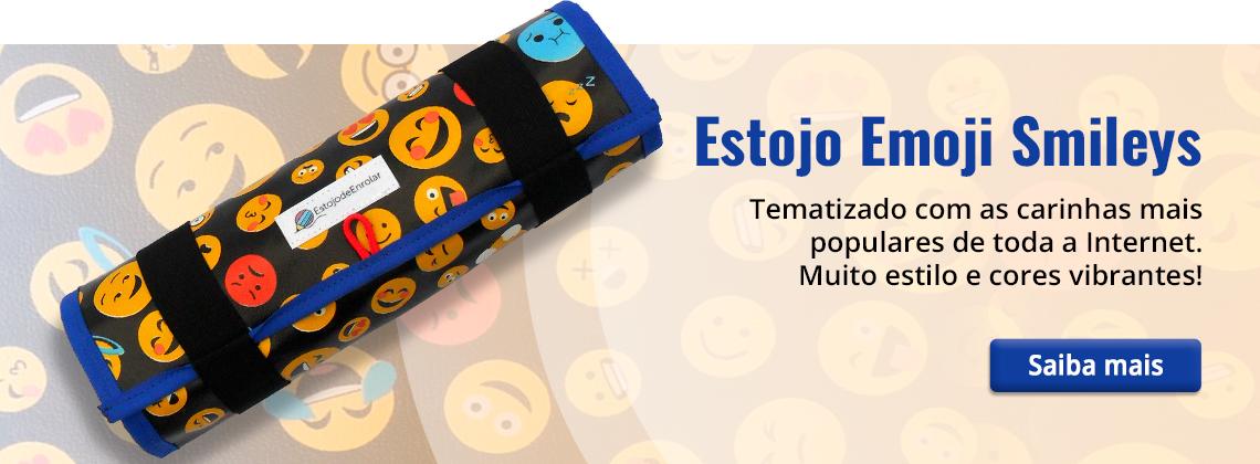 Banner, Estojo Smileys Emoji - Estojo de Enrolar