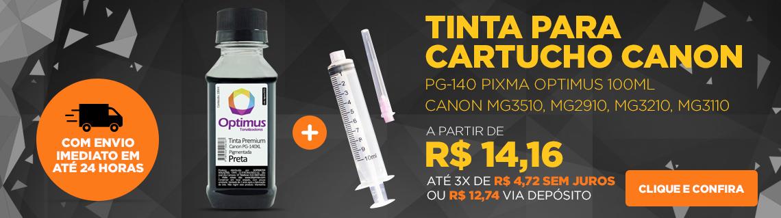 Tinta Canon PG-140 | MG3210 | MG3110 | MX431 Pixma Preta