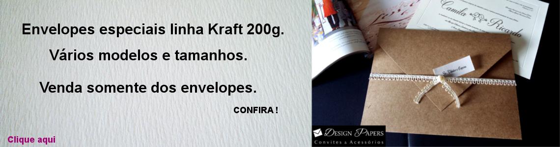 Envelope linha Kraft