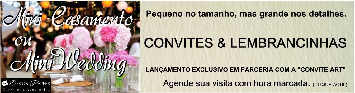 Convites para mini casamento