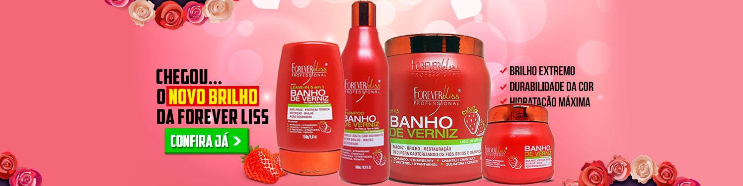 Forever Liss Banho de Verniz Morango
