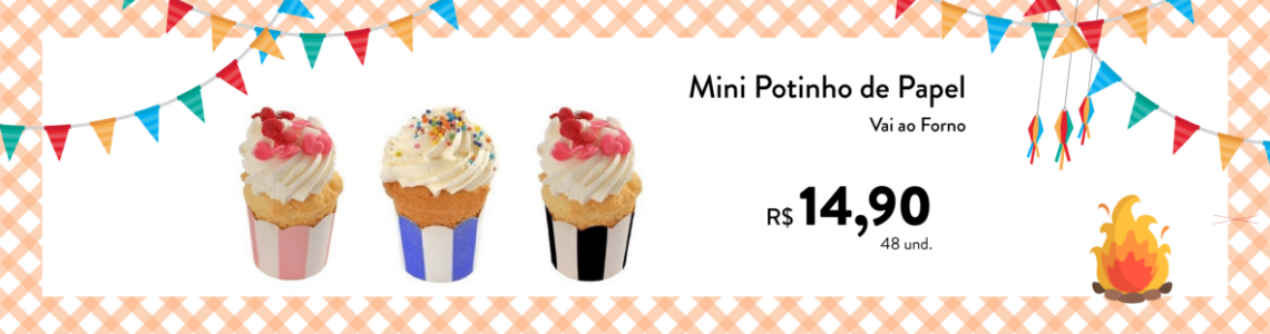 potinhos cupcake juninos
