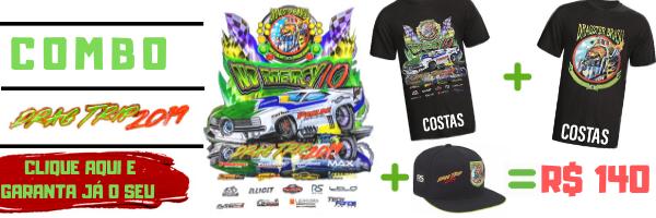 COMBO DRAG TRIP 2019 (leve uma camiseta drag trip + uma camiseta top fuel eye + um boné com um DESCONTÃO IMPERDÍVEL)