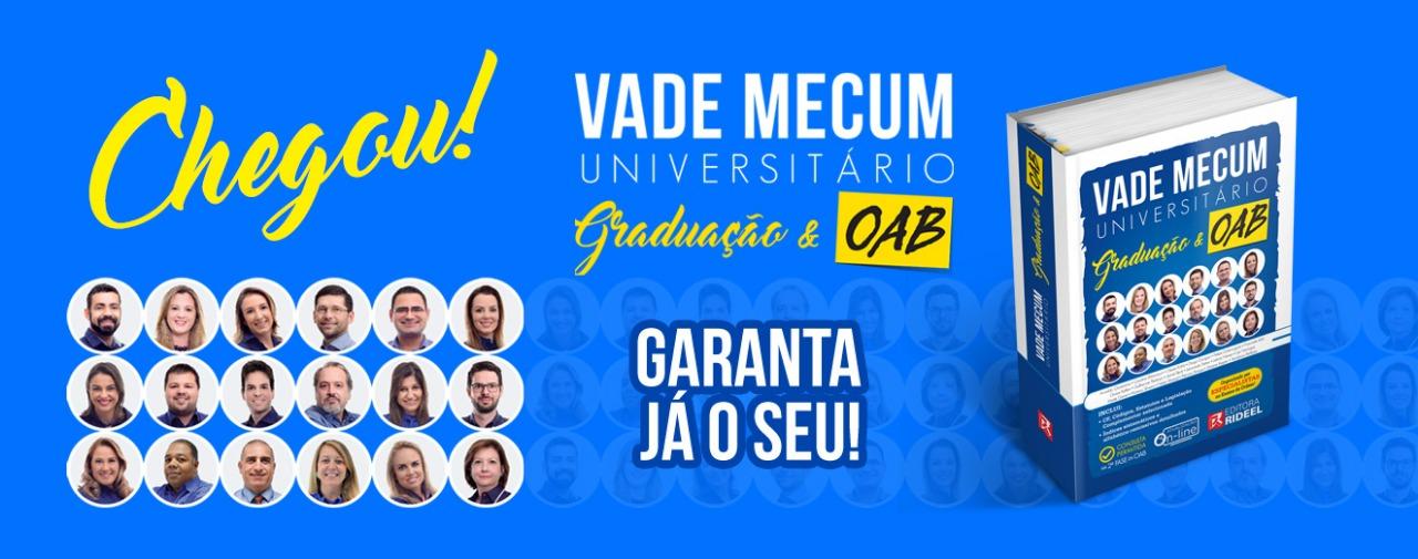 Banner Vade Mecum Universitário Graduação e OAB