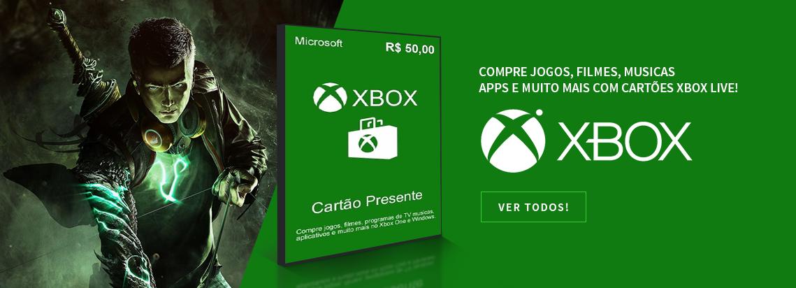 Cartões Xbox Live
