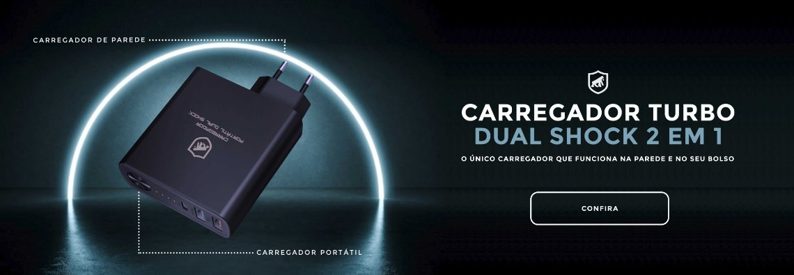 Carregador Turbo Dual Shock