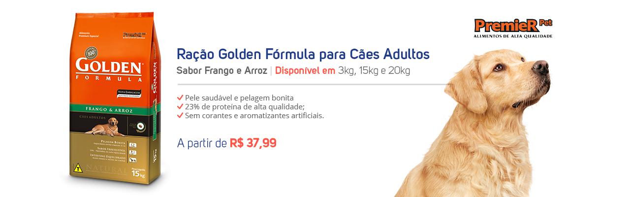 Ração Golden Formula Para Cães Adultos Sabor Frango e Arroz