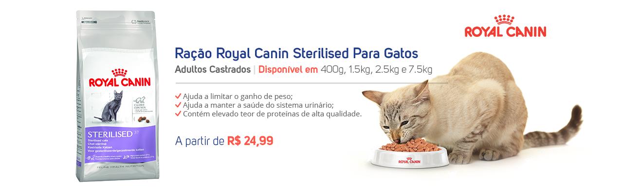 Ração Royal Canin Sterilised Para Gatos Adultos Castrados