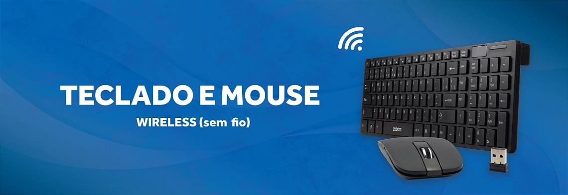 Teclado e Mouse Wireless full banner