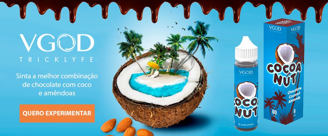 Liquido Cigarro Eletrônico Cocoa Nut