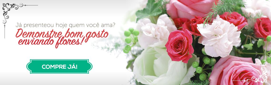 Já presenteou hoje quem você ama? Demonstre bom gosto enviando flores!