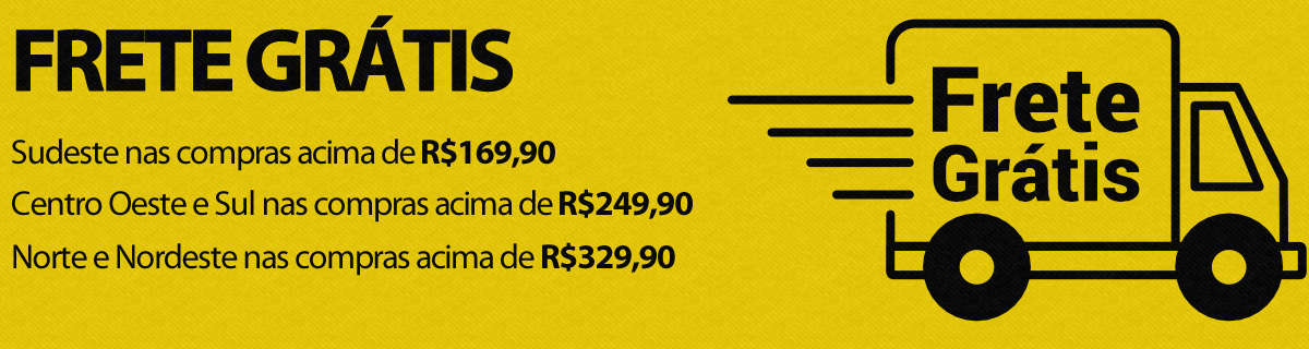 Frete grátis todo o Brasil