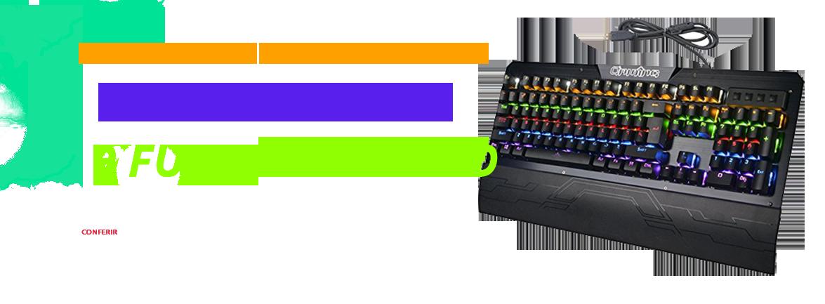 Teclado Mecânico Gamer 9 Funções de LED Switch Blue gamer