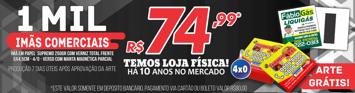 PROMOÇÃO - Ímã De Geladeira Comercial Personalizado 5x4,5