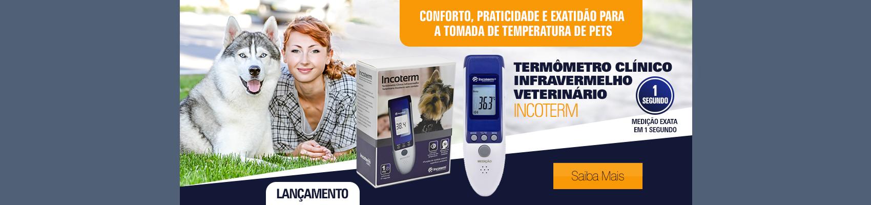 Termômetro Clínico Infravermelho Veterinário Incoterm