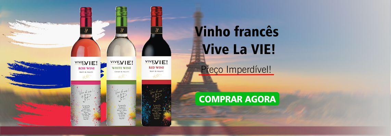 Compre Vinho francês Vive La Vie  e festeja com um vinho leve e delicado.