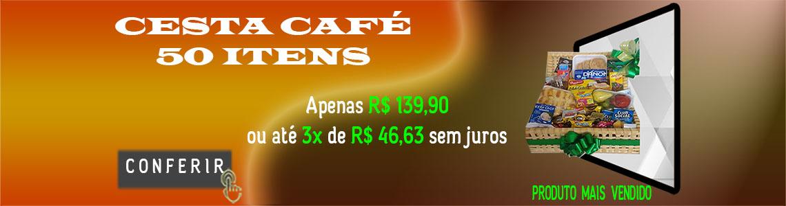 banner cesta café da manhã 50 itens