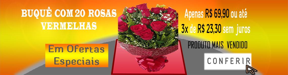 banner buquê rosas vermelhas
