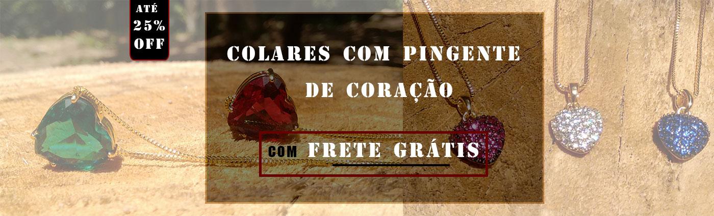 COLARES CORAÇÕES COM FRETE GRÁTIS