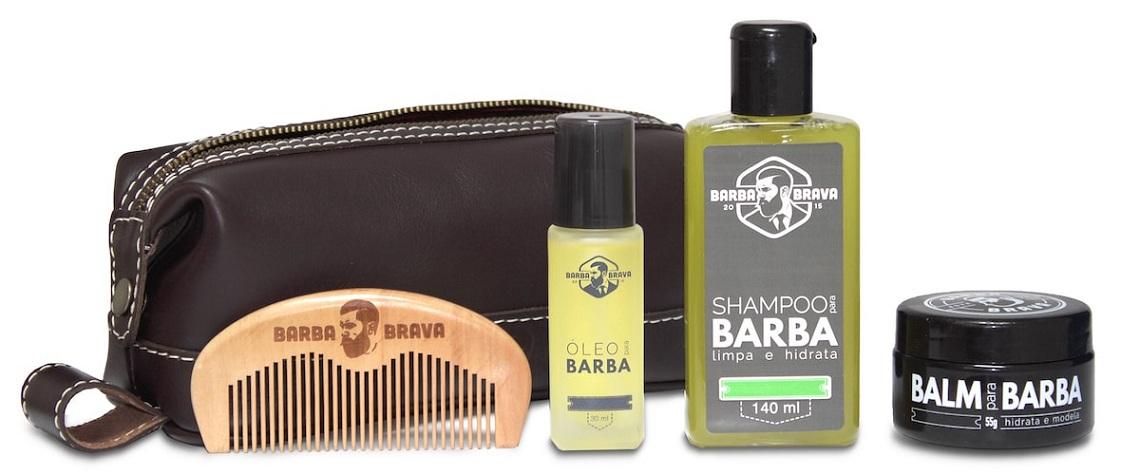 Kit Completo + Necessaire Barba Brava