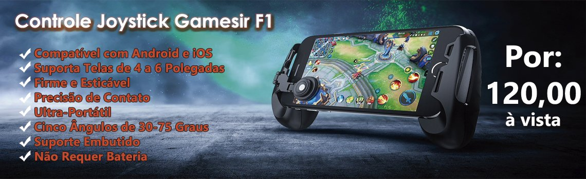 Controle Joystick Ultra-Portátil GameSir F1 Para Android & iOS
