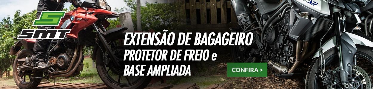SMT MOTOS - Extensão de Bagageiro, Protetor de Freio e Base Ampliada