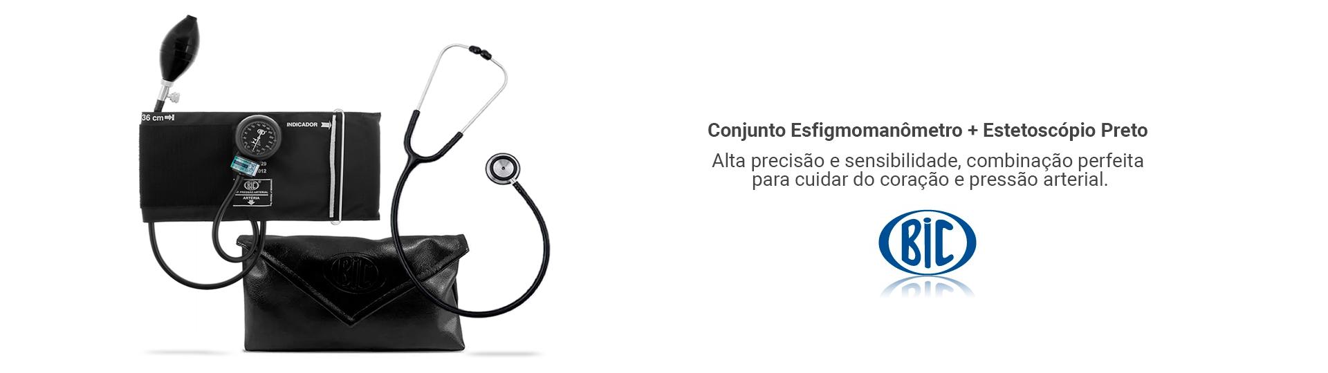 Conjunto Esfigmomanômetro e Estetoscópio BIC