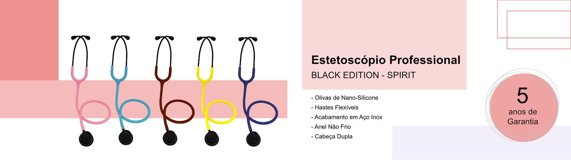 Estetoscópio Professional black edition spirit