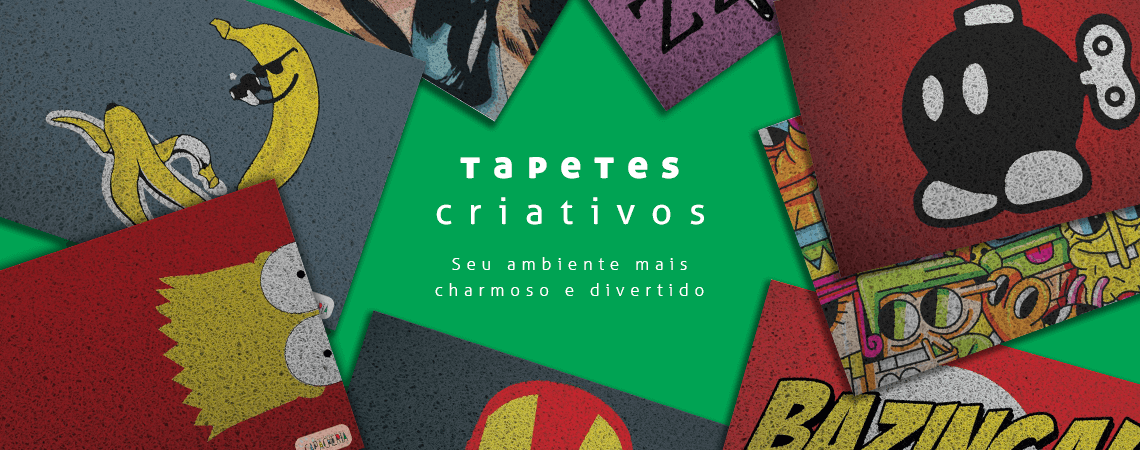 Tapetes criativos