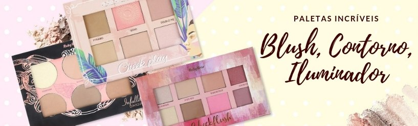 Paleta Blush, Contorno, Iluminador Ruby Rose