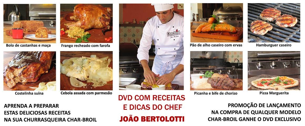 DVD Receitas Char-Broil
