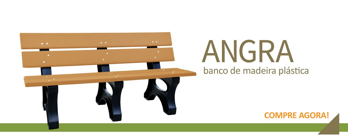 Banco Angra madeira plástica