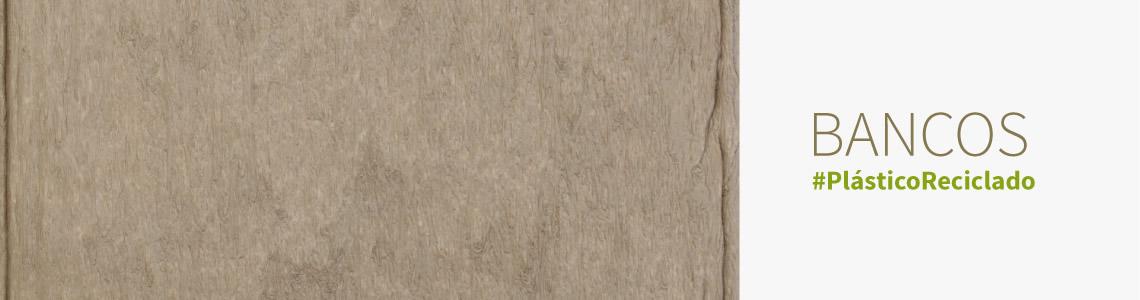 Bancos de madeira plástica