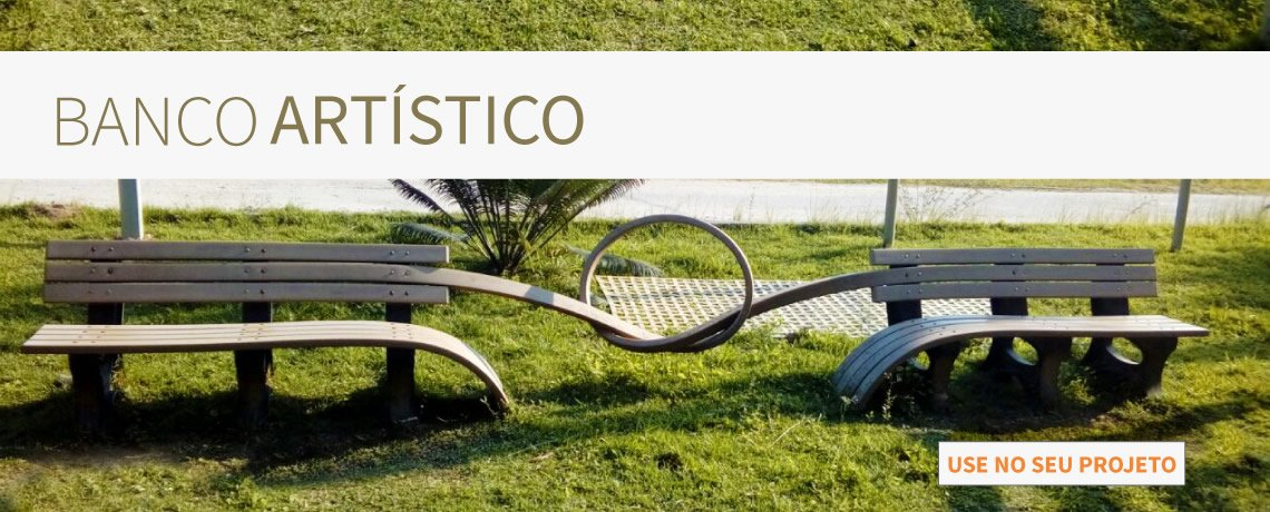 #Banco artístico de madeira plástica