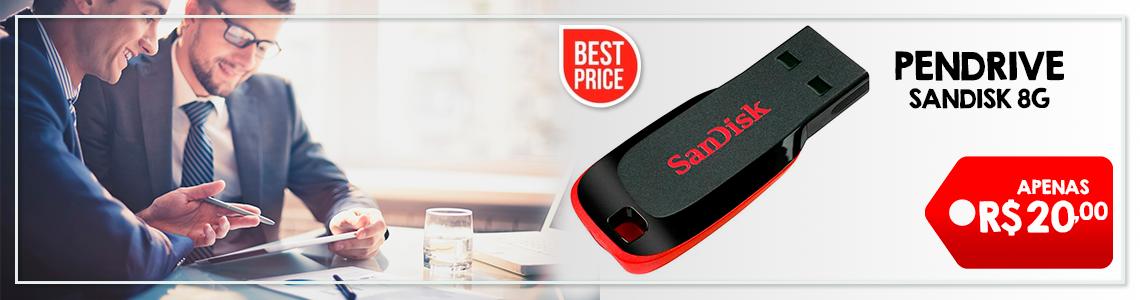 Pen Drive Sandisk 8G R$ 20,00