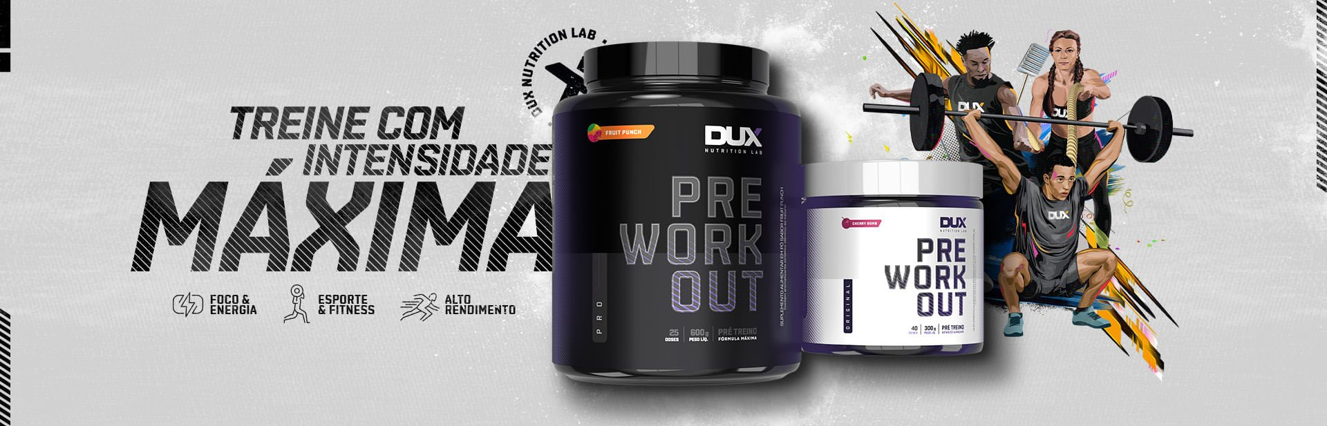 lançamento dux pre workout