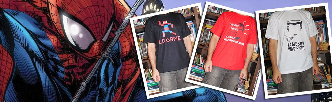 Camisetas pra quem é fã do Aranha