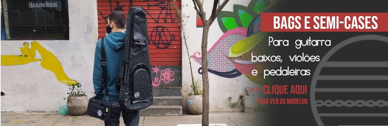 bag capa semi-case guitarra violão